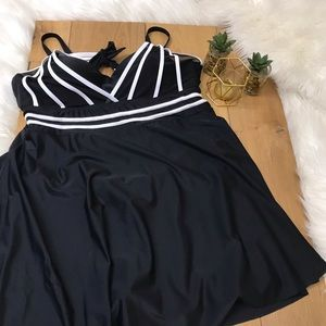 Black Dress Swim Suit #314
